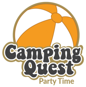 Logo Camping Quest Party Time | Escape Caravan